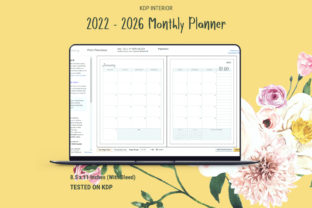 Print on Demand: KDP Five Year Planner 2022 - 2026 Graphic KDP Interiors By The Low Content Bookshelf 8