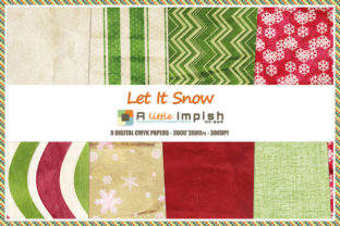 Print on Demand: Let It Snow Digital Paper Pack Graphic Backgrounds By A little Impish by Mx. ABP
