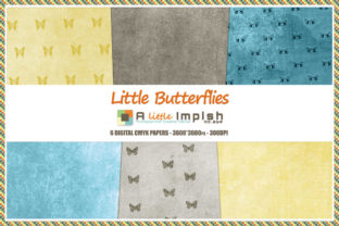 Print on Demand: Little Butterflies Digital Paper Pack Graphic Backgrounds By A little Impish by Mx. ABP