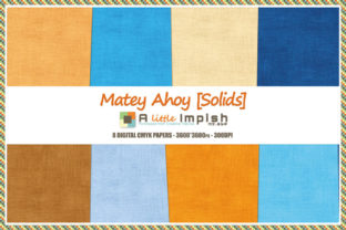 Print on Demand: Matey Ahoy [Solids] Digital Paper Pack Graphic Backgrounds By A little Impish by Mx. ABP