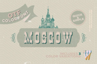 Print on Demand: Moscow Color Fonts Font By mrramon