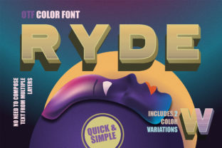 Print on Demand: Ryde Color Fonts Font By mrramon