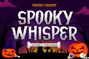 Print on Demand: Spooky Whisper Display Font By Holydie Studio 1