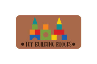 Toy Building Blocks Label Designs & Drawings Craft Cut File By Creative Fabrica Crafts