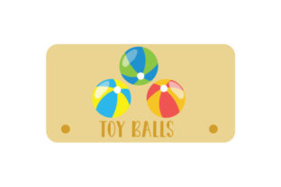 Toy Balls Label Designs & Drawings Craft Cut File By Creative Fabrica Crafts