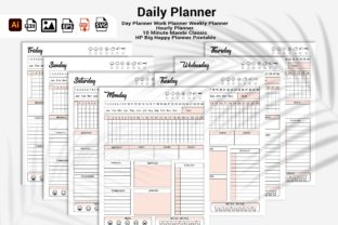 Print on Demand: 2022 Daily Planner Print Ready & KDP Graphic KDP Interiors By DigitalMGoods