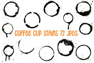 Print on Demand: 72 JPG Coffee Tea Cup Mug Stains Spills Graphic Illustrations By squeebcreative
