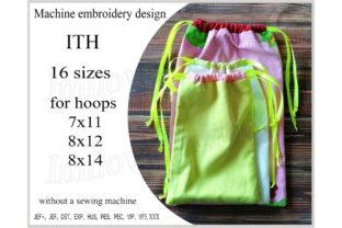 Bag in the Hoop Accessoires Stickdesign von ImilovaCreations