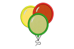 Balloons Holidays & Celebrations Embroidery Design By Embroiderypacks