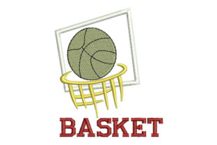 Basketball Hobbies & Sports Embroidery Design By Embroiderypacks