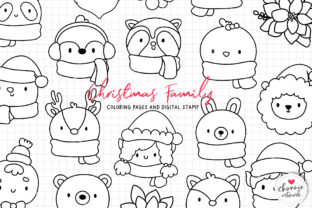Print on Demand: Christmas Animal Coloring Pages, SVG Graphic Illustrations By Chonnieartwork