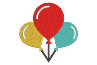 Colored Balloons for Birthdays Birthdays Embroidery Design By Embroiderypacks