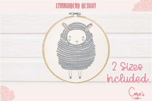 Cute Sheep Baby Animals Embroidery Design By carasembor