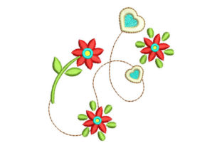 Decorative Flowers Floral & Garden Embroidery Design By Embroiderypacks