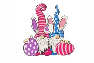Easter Gnomes Easter Embroidery Design By LizaEmbroidery