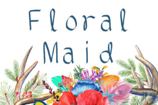 Print on Demand: Floral Maid Display Font By Luckman Std