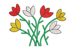 Flowers Bouquets & Bunches Embroidery Design By Embroiderypacks