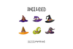 Print on Demand: Halloween Witch Hats Graphic Illustrations By DigitalPapers 2