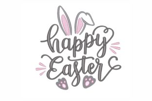 Happy Easter Easter Embroidery Design By LizaEmbroidery