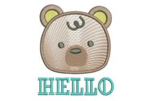 Hello Bear Teddy Bears Embroidery Design By Embroiderypacks