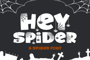 Print on Demand: Hey Spider Decorative Font By Dani (7NTypes)