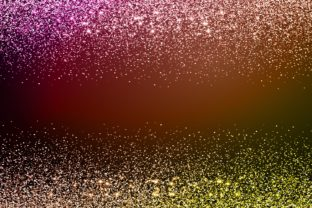 Print on Demand: Magenta Yellow Sparkle Glitter Graphic Backgrounds By Rizu Designs