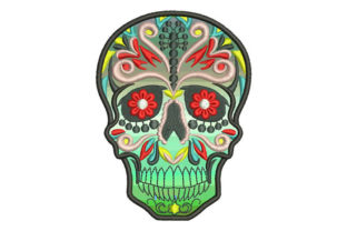 Mexican Skull Mexico Embroidery Design By Embroiderypacks