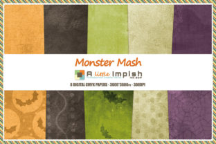 Print on Demand: Monster Mash Digital Paper Pack Graphic Backgrounds By A little Impish by Mx. ABP