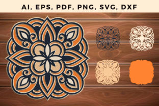 Print on Demand: Multi Layer Mandala Svg Cut File Graphic 3D SVG By NGISED