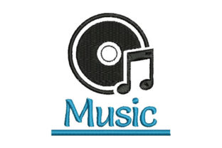 Music Music Embroidery Design By Embroiderypacks
