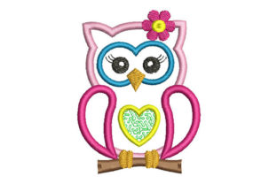 Owl Applique Birds Embroidery Design By Embroiderypacks