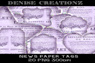 Paper News Tags Graphic Crafts By Denise Creationz