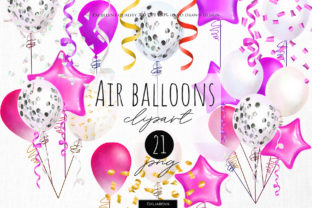 Pink Balloons Clipart - 1