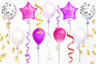 Pink Balloons Clipart - 2