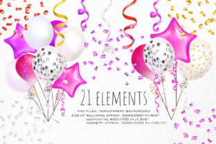Pink Balloons Clipart - 3