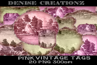 Pink Vintage Tags Graphic Crafts By Denise Creationz
