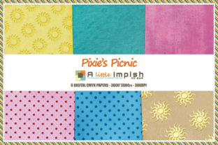 Print on Demand: Pixie's Picnic Digital Paper Pack Graphic Backgrounds By A little Impish by Mx. ABP