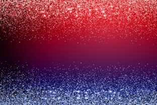 Print on Demand: Red Blue Sparkle Glitter Background Graphic Backgrounds By Rizu Designs