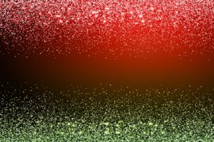 Print on Demand: Red Green Sparkle Glitter Background Graphic Backgrounds By Rizu Designs