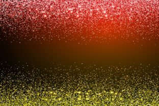 Print on Demand: Red Yellow Sparkle Glitter Background Graphic Backgrounds By Rizu Designs
