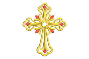Religious Cross Religion & Faith Embroidery Design By Embroiderypacks