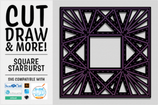 Print on Demand: Square Starburst Cut Draw & More SVG Graphic 3D SVG By gentlemancrafter