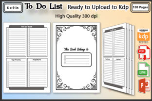 To Do List Book - Journal - Kdp Interior Graphic KDP Interiors By ishop