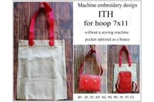 Tote Bag in the Hoop Accessories Embroidery Design By ImilovaCreations