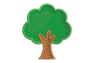 Tree Applique Forest & Trees Embroidery Design By Embroiderypacks