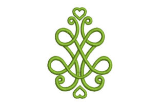 Tribal Design with Heart Intricate Cuts Embroidery Design By Embroiderypacks