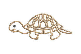 Turtle Reptiles Embroidery Design By Embroiderypacks