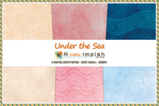 Print on Demand: Under the Sea Digital Paper Pack Graphic Backgrounds By A little Impish by Mx. ABP