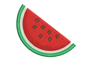 Watermelon Food & Dining Embroidery Design By Embroiderypacks