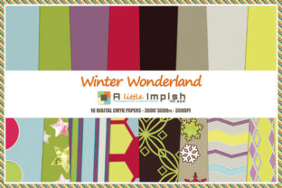 Print on Demand: Winter Wonderland Digital Paper Pack Graphic Backgrounds By A little Impish by Mx. ABP